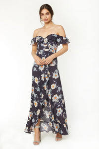 Monica Maxi Dress - Midnight Flora