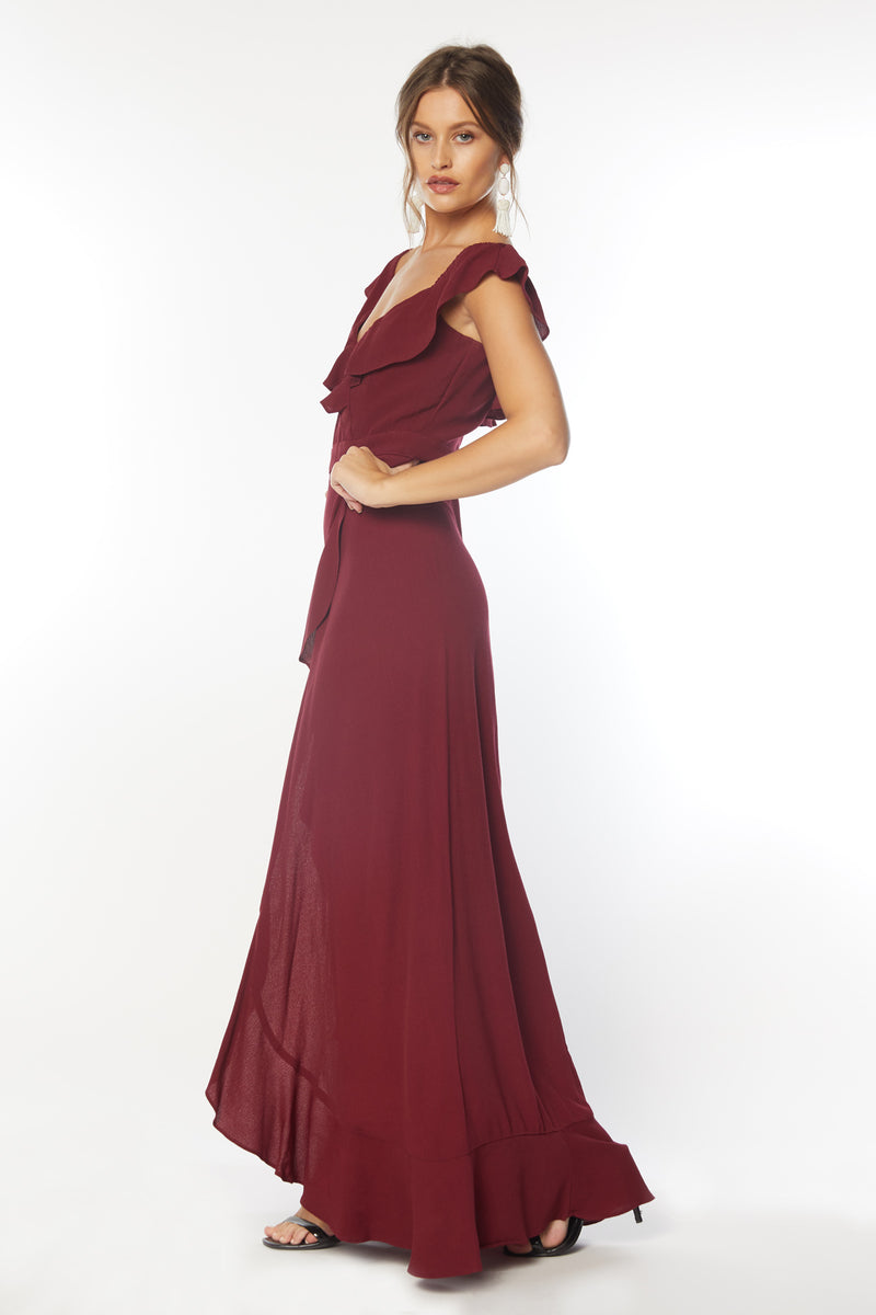 Monica Maxi Dress (Very Berry)