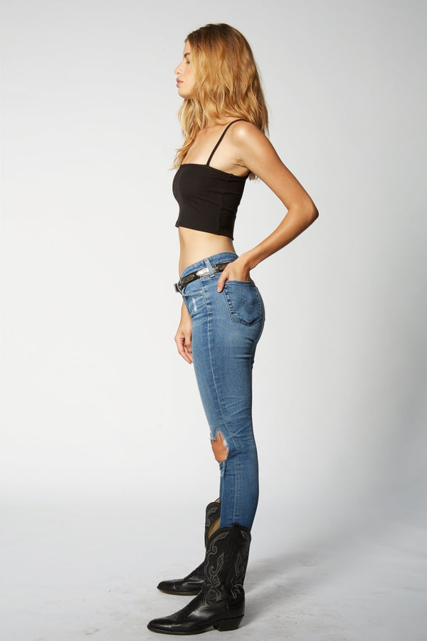 Kady Crop Top - Black Rib - Flynn Skye