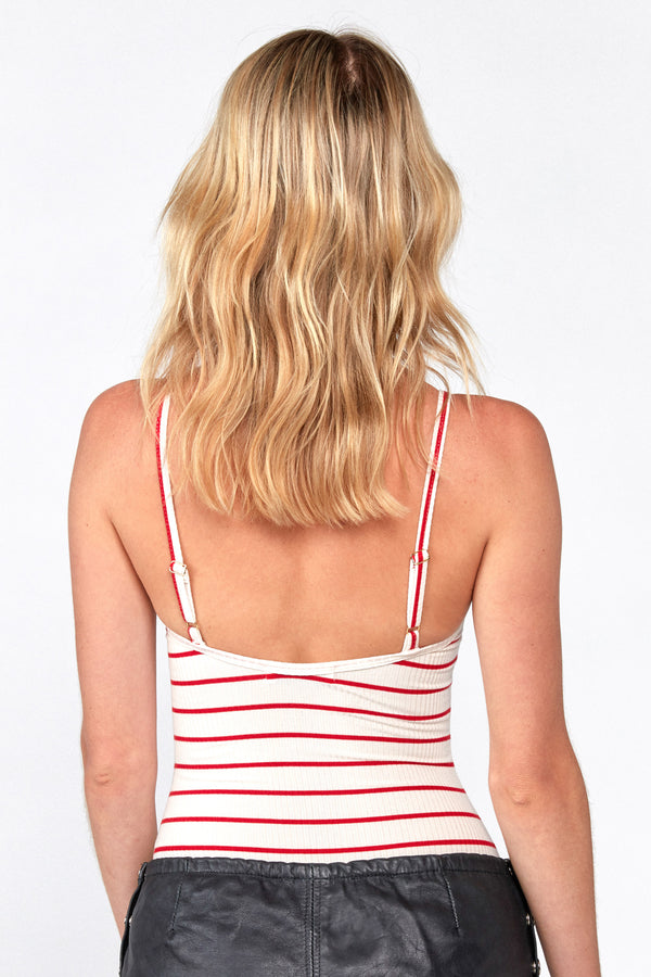 Marley Bodysuit (Red Stripe Rib)