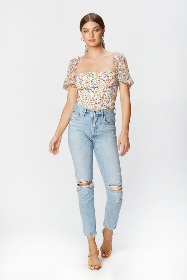 Miley Top (Spring Garden Chiffon)