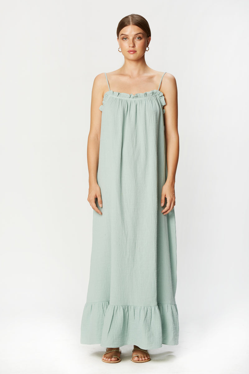 Waylynn Dress (Seafoam Gauze)