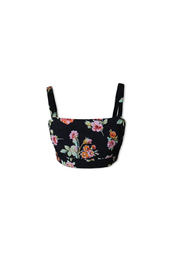 Alexis Crop Top (Pastel Blooms)
