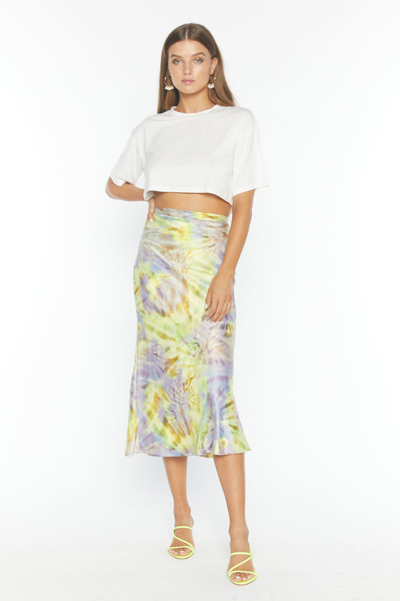 Alice Skirt (Spiral Mist Satin)