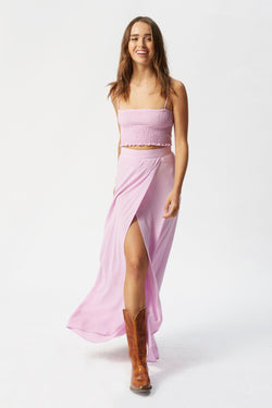 Exclusive FORAY x FS Wrap It Up Skirt - Pink Lady - Flynn Skye