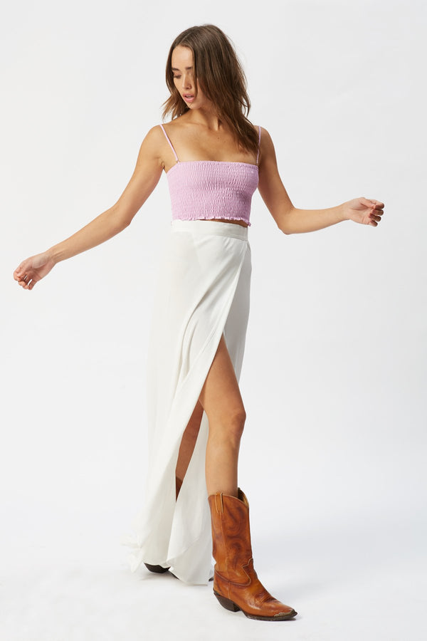 Exclusive FORAY x FS Wrap It Up Skirt - White - Flynn Skye