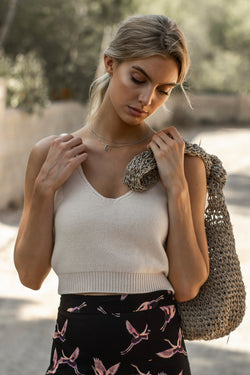 Kelly Tank (Cream Knit)