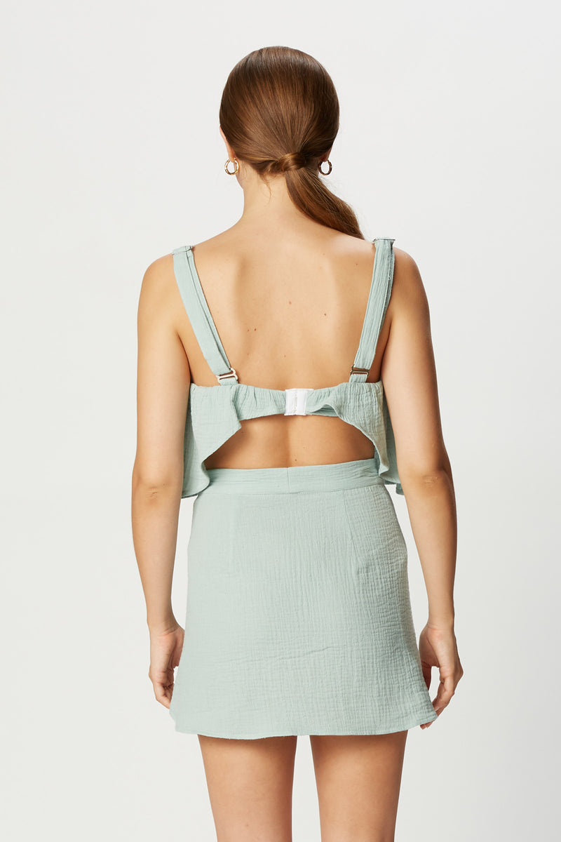 Kimmy Top (Seafoam Gauze)