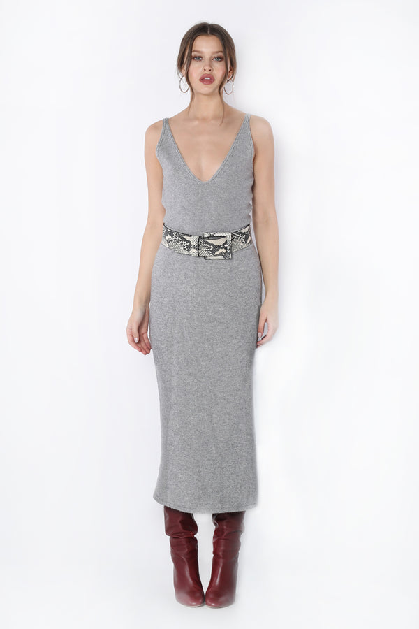 Leslie Skirt (Grey Knit)