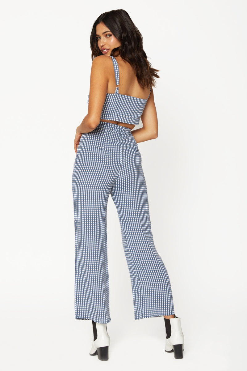 Parker Pant (Gingham Blues)