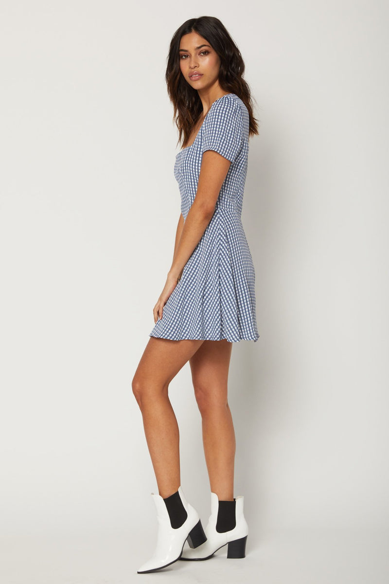 Maiden Mini - Gingham Blues - Flynn Skye