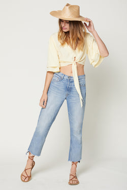 Lilly Top - Butter Yellow Shirting