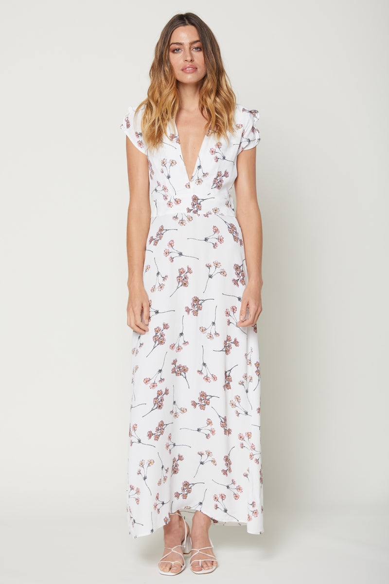 Exclusive Valentina Maxi - White Cherry Blossom