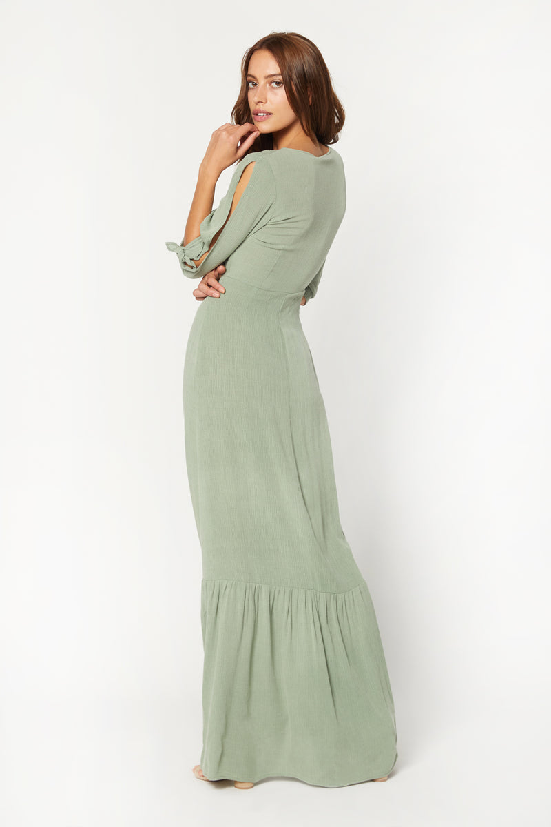 Gigi Dress (Green Crinkle)
