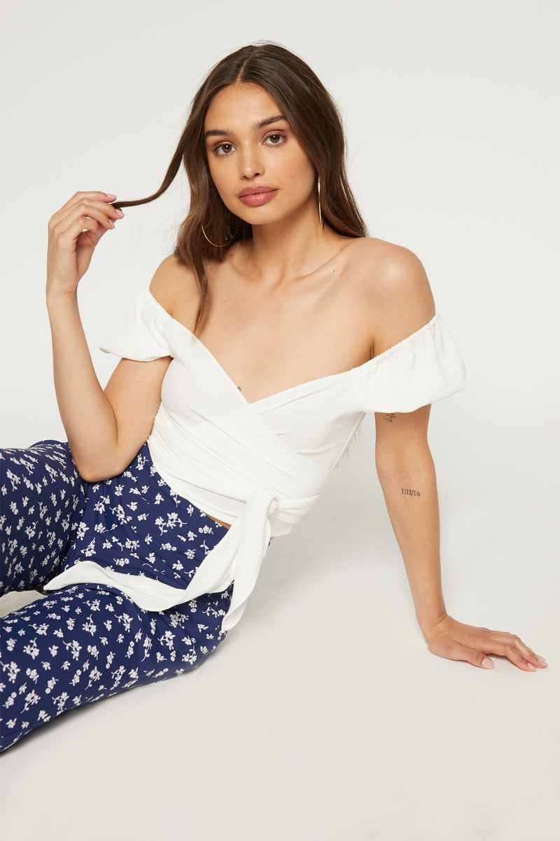 Exclusive - Annabelle Wrap Top