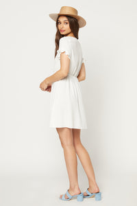 Kingsley Mini - White Rayon