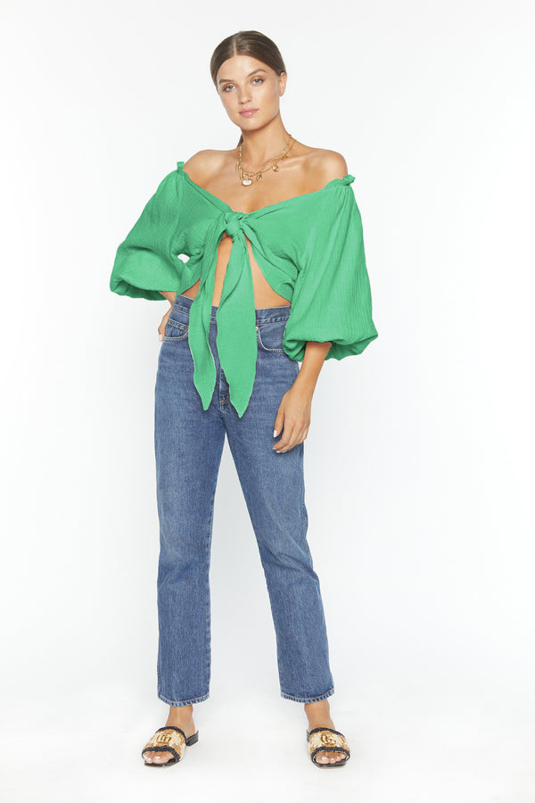 Tiff Top (Green Gauze)