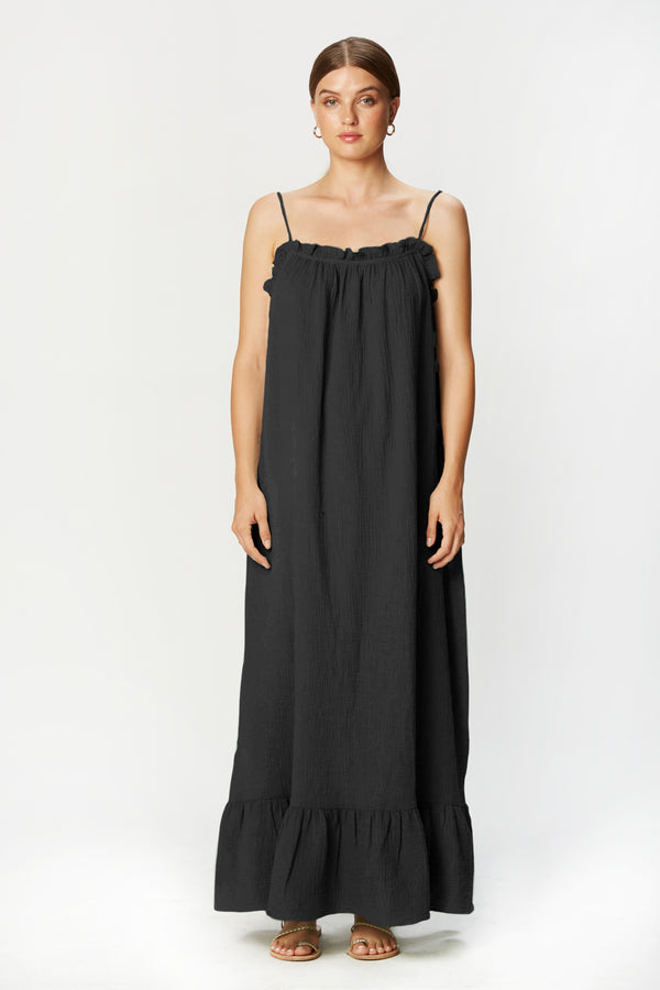 Waylynn Dress (Black Gauze)