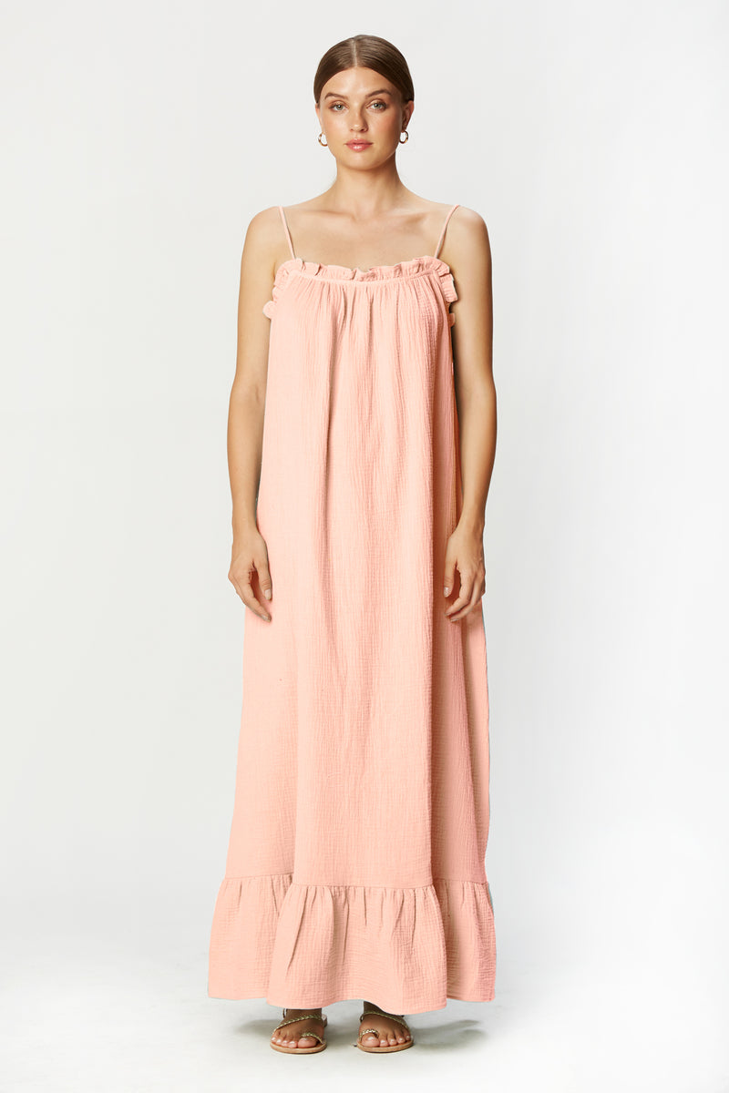 Waylynn Dress (Blush Gauze)