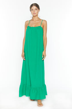 Waylynn Dress (Green Gauze)