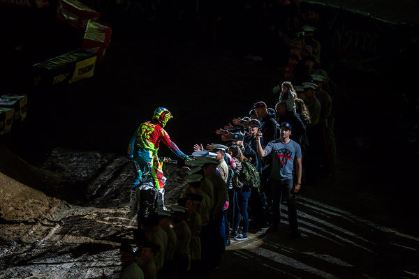Weston Peick salutes the US troops