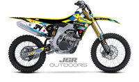 Autotrader/Yoshimura/Suzuki OUTDOOR Factory Race Team Kit for 2018 RM-Z450
