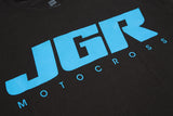 JGRMX Black And Blue T-Shirt Detail