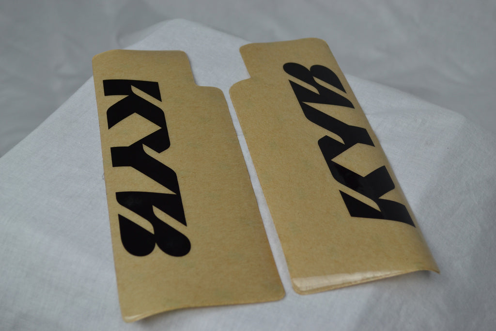 Kayaba fork wrap stickers