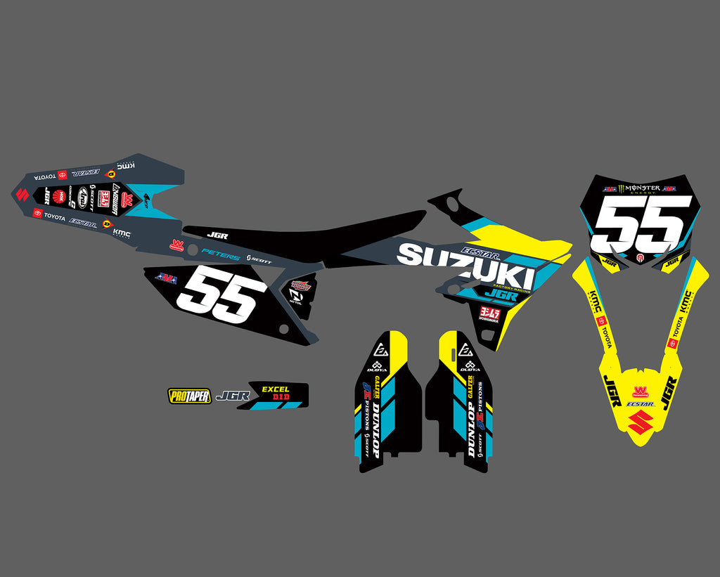 JGRMX/Yoshimura/Suzuki Factory Racing DETROIT SX Graphics Kit