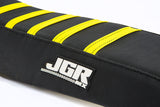 JGRMX Ribbed Motocross black seat cover detail