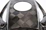 Honda Checkered Carbon Fiber Fuel Tank Cover detail of weave
