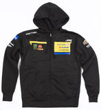 2017 JGRMX official team zippered hoody front