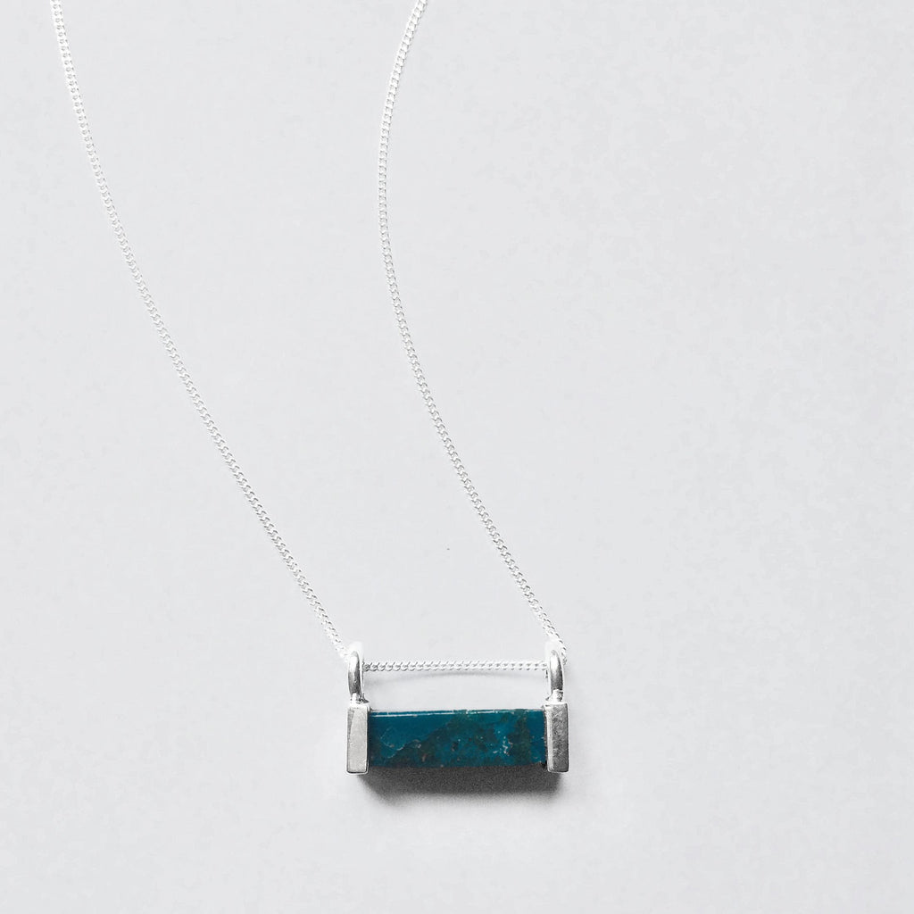 Horizon Stone Necklace - Turquoise