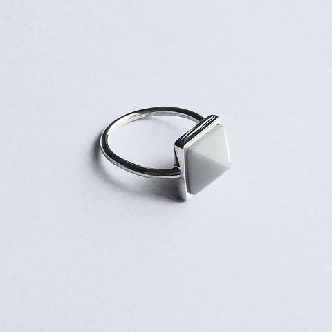 Marble Stone Pyramid Ring