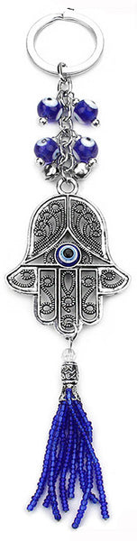 Hamsa Hand Talisman with Evil Eye Accents & Bells
