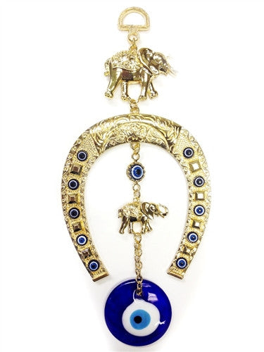 Evil Eye Lucky Horseshoe & Elephant Talisman