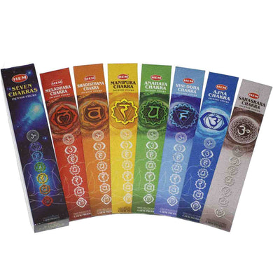 7 Chakra Incense Box Set