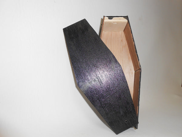 Black Painted Coffin