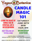 Candle Magic Workshop June 2018