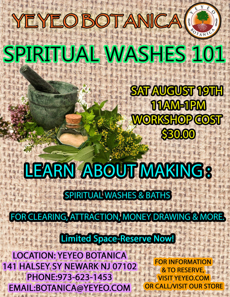 Spiritual Baths 101 Workshop