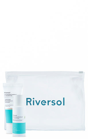Riversol Travel Ready Cleanser, Sunscreen & Bag