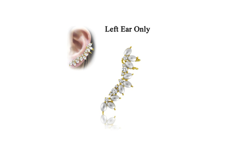 Gold Plated Sterling Silver Hugging Earring (Left)