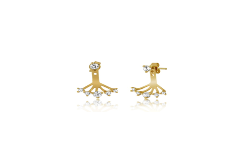 Gold Plated Sterling Silver Branching Earrings