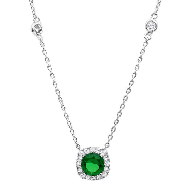 Green Rhodium Plating Necklace