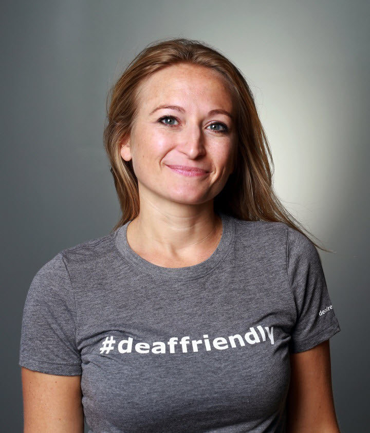 #deaffriendly Tri-Blend Girly Tee