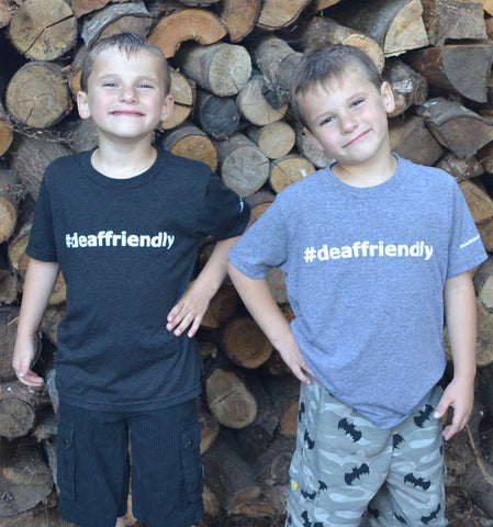 #deaffriendly Tri-Blend Youth Tee