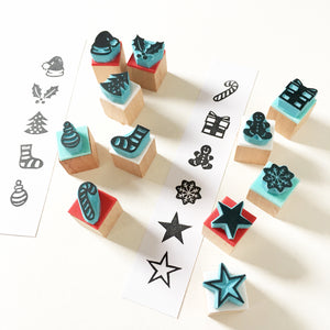 Christmas Rubber Stamps, Assortment of Christmas icons