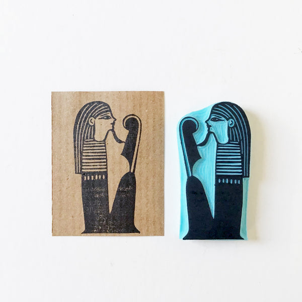 Egyptian Figures from the Book of the Dead Rubber Stamps, Hand carved by Cassastamps