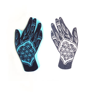 Mystic hands, right and left hands, henna hands