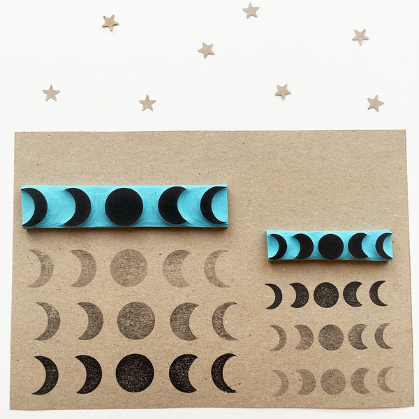Phases of the moon rubber stamps
